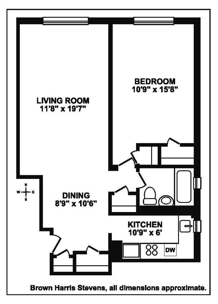 345 East 54th Street 4H, Midtown East, NYC, $570,000, Web #: 17461189