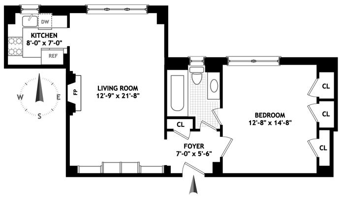315 East 68th Street, Upper East Side, NYC, $645,000, Web #: 1748521