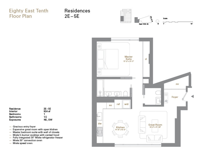 80 East 10th Street 4E, East Village, NYC, $2,150,000, Web #: 17487439