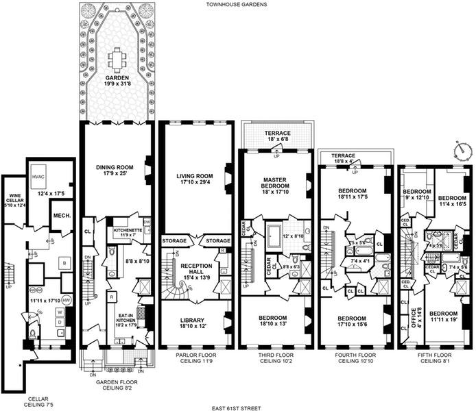 237 East 61st Street, Upper East Side, NYC, $7,950,000, Web #: 17519552