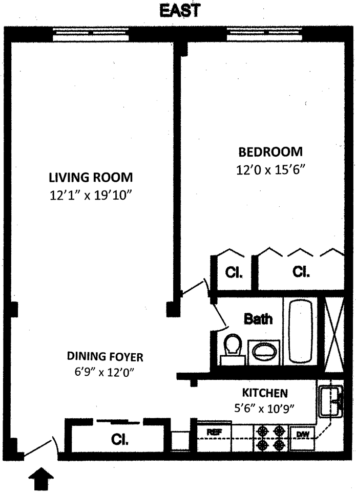 185 West Houston Street 2J, West Village, NYC, $677,500, Web #: 1753159