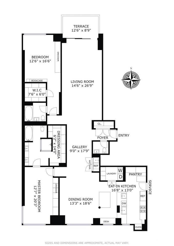 425 East 58th Street 34A, Midtown East, NYC, $3,725,000, Web #: 17581718