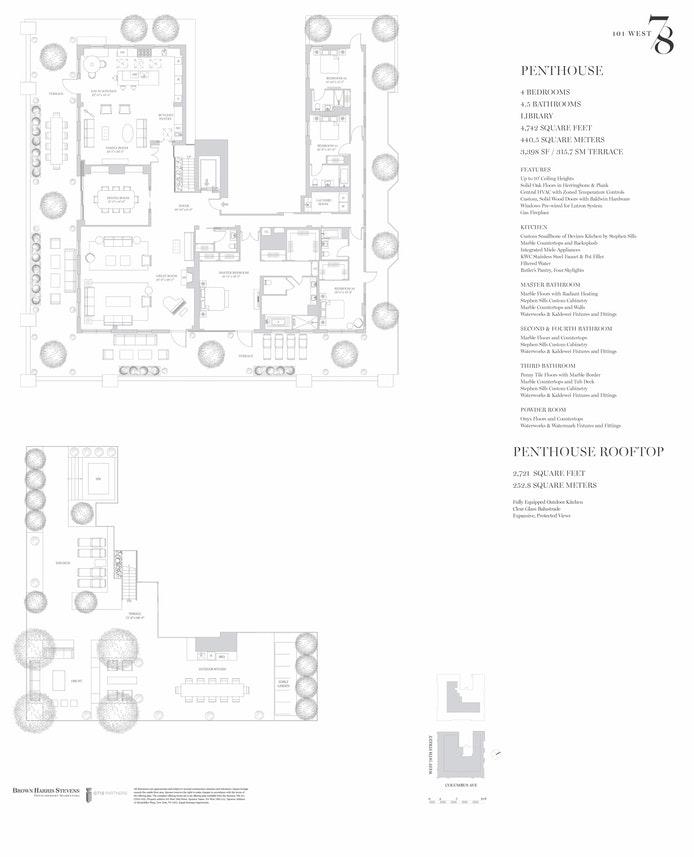 101 West 78th Street PH, Upper West Side, NYC, $23,500,000, Web #: 17590799