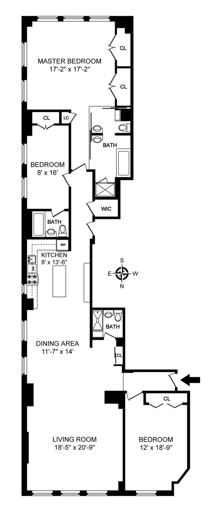 18 East 12th Street 7Ad, East Village, NYC, $3,250,000, Web #: 17638074