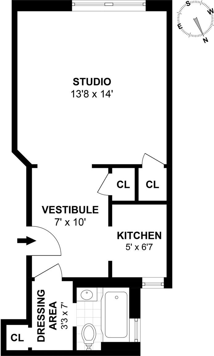 51 East 78th Street 1A, Upper East Side, NYC, $599,000, Web #: 17638852