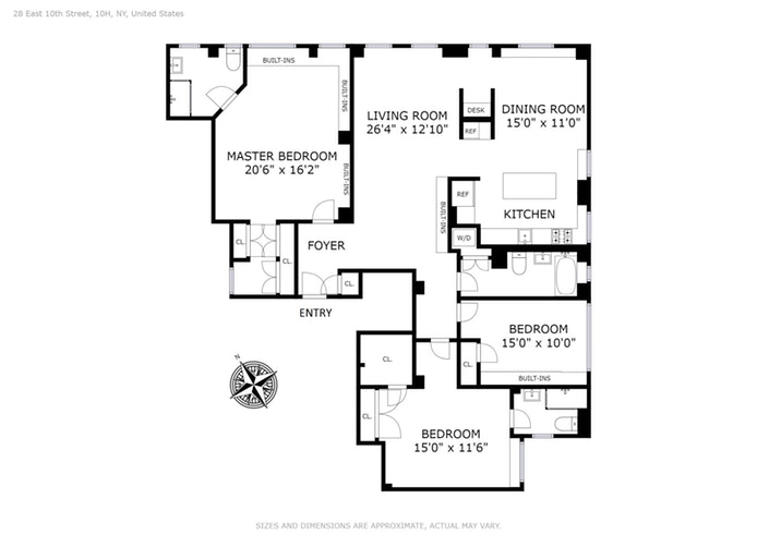 28 East 10th Street 10H, Central Village, NYC, $4,750,000, Web #: 17673897