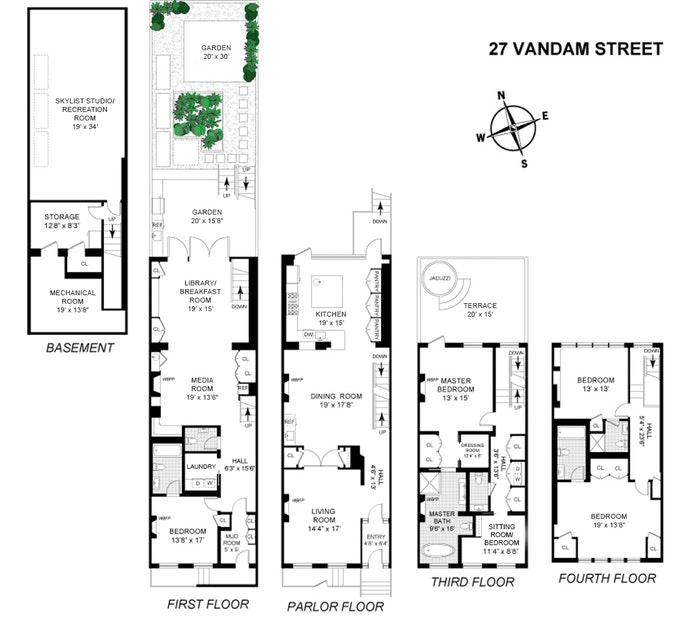 27 Vandam Street, Tribeca/SOHO/Chinatown, NYC, $13,500,000, Web #: 17690259