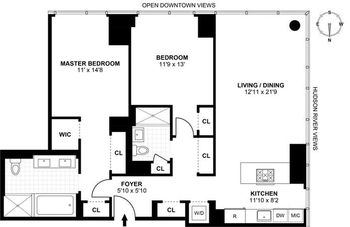 460 West 42nd Street Ph1j, Midtown West, NYC, $11,000, Web #: 17705179