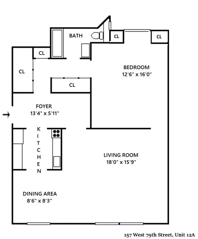 157 West 79th Street 12A, Upper West Side, NYC, $1,295,000, Web #: 17710576