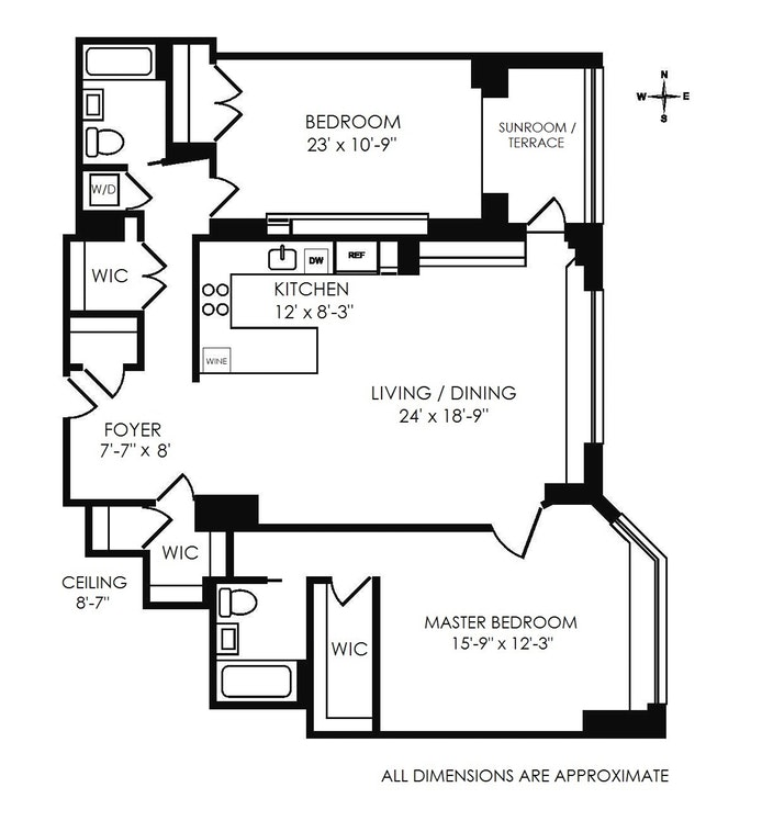 20 Sutton Place South 9B, Midtown East, NYC, $1,300,000, Web #: 17719283