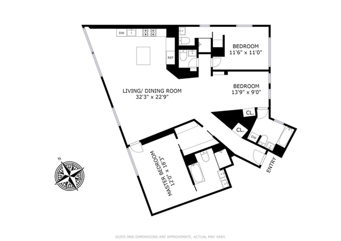100 Eleventh Avenue 10A, Chelsea, NYC, $4,850,000, Web #: 17719830