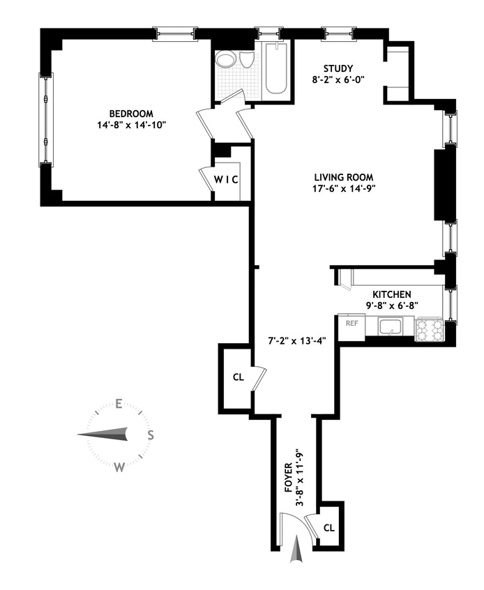590 West End Avenue 11F, Upper West Side, NYC, $810,000, Web #: 17736242