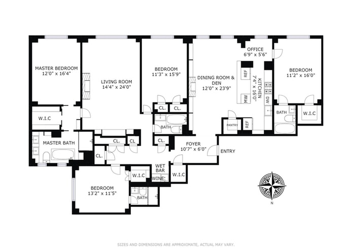 225 East 73rd Street 3BC, Upper East Side, NYC, $4,095,000, Web #: 17736334