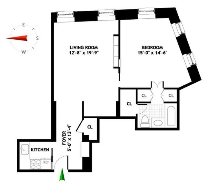 Floorplan For 99 Bank Street 4J