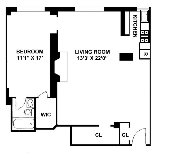 2 Horatio Street 2J, West Village, NYC, $1,415,000, Web #: 17758466