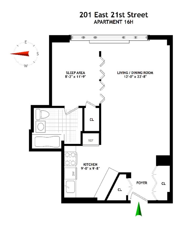201 East 21st Street 16H, Flatiron/Gramercy Park, NYC, $625,000, Web #: 17783108