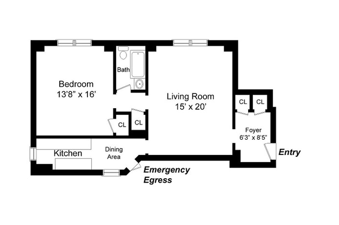 697 West End Avenue 3D, Upper West Side, NYC, $3,450, Web #: 17791721