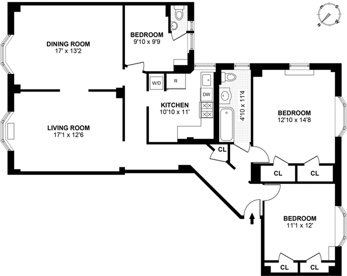 520 West 110th Street 3A, Upper West Side, NYC, $5,500, Web #: 17803394
