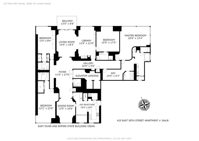 425 East 58th Street 36Ab, Midtown East, NYC, $4,995,000, Web #: 17815701