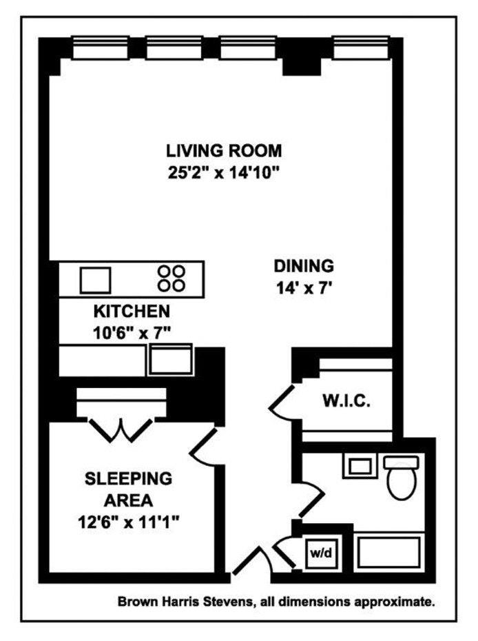 420 West 25th Street 6B, Chelsea, NYC, $5,495, Web #: 17821592