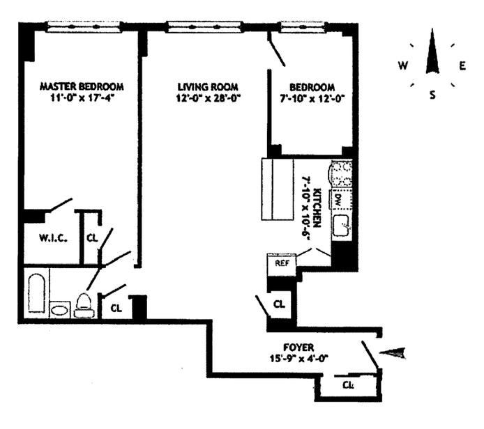 235 East 87th Street 6D, Upper East Side, NYC, $800,000, Web #: 17831161
