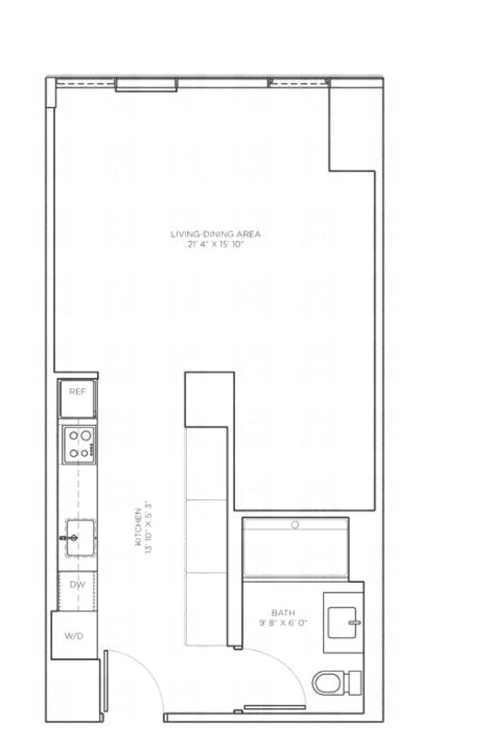 540 West 49th Street 502S, Midtown West, NYC, $2,995, Web #: 17903196