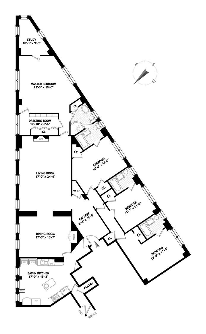 47 Plaza Street West 12C, Park Slope, New York, $3,288,888, Web #: 17918641