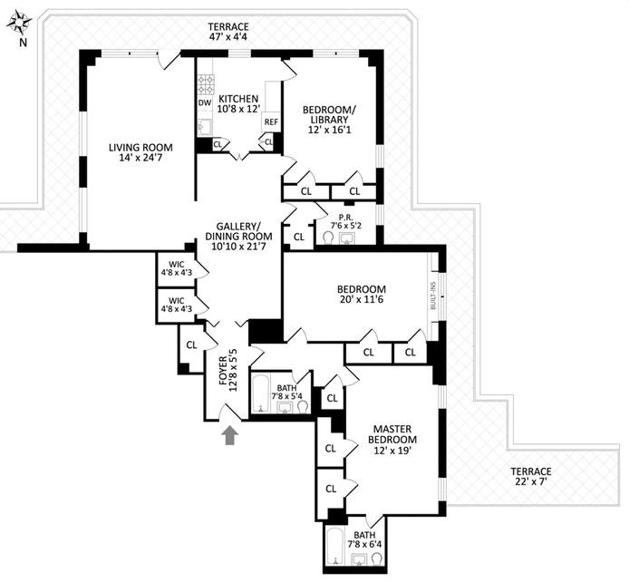 70 East 10th Street Pha, East Village, NYC, $3,400,000, Web #: 17929820