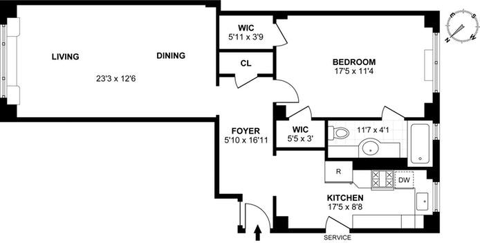 186 Riverside Drive 6D, Upper West Side, NYC, $840,000, Web #: 17935710