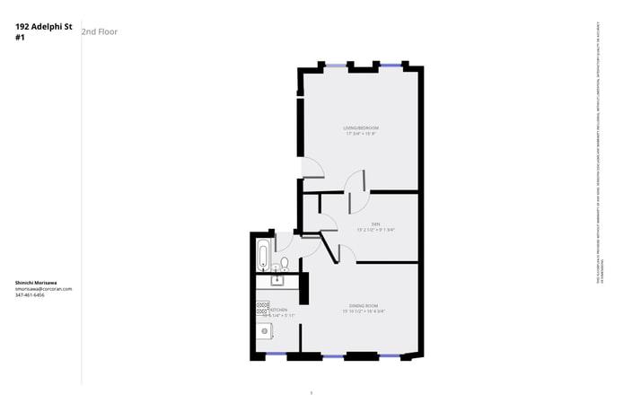 192 Adelphi Street 1, Brooklyn, New York, $2,500, Web #: 17939637