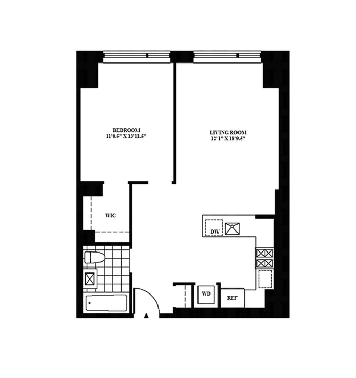540 West 28th Street 8E, Chelsea, NYC, $4,250, Web #: 17941142