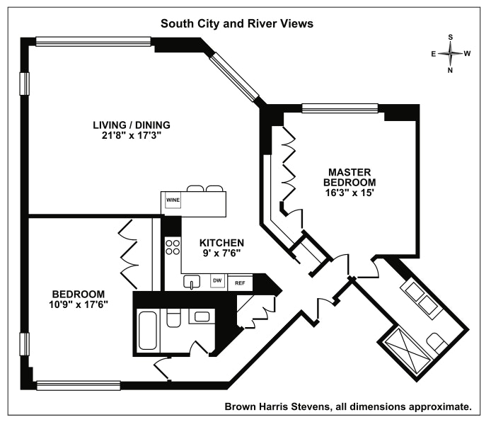 303 East 43rd Street 18A, Midtown East, NYC, $1,825,000, Web #: 17941165