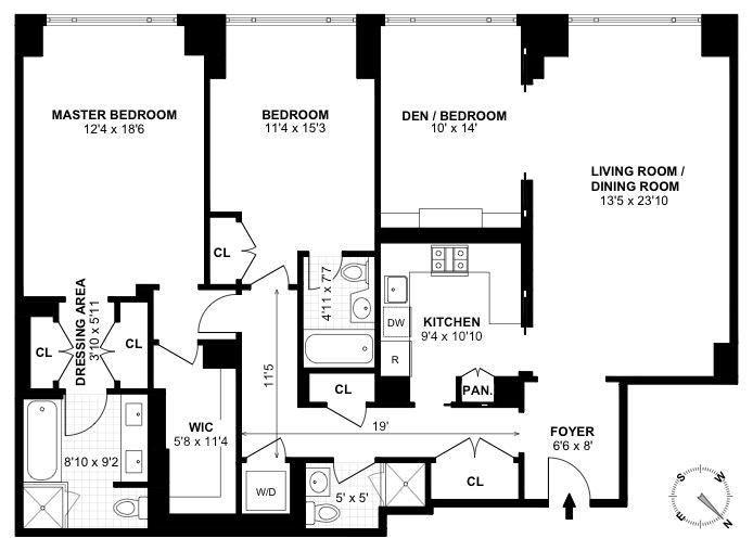 308 East 72nd Street 7D, Upper East Side, NYC, $2,850,000, Web #: 17948657