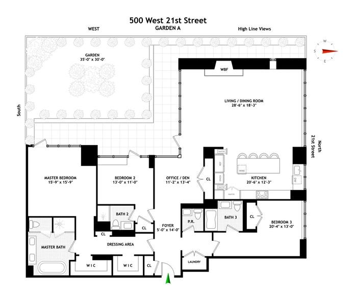 500 West 21st Street Garden/A, Greenwich Village/Chelsea, NYC, $24,500, Web #: 17952832