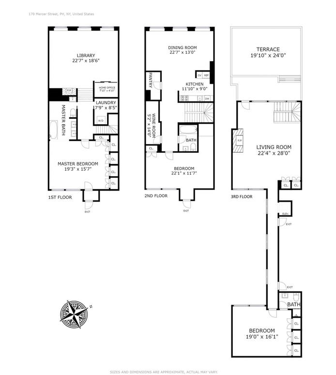 170 Mercer Street PH, Soho, NYC, $9,350,000, Web #: 17966327