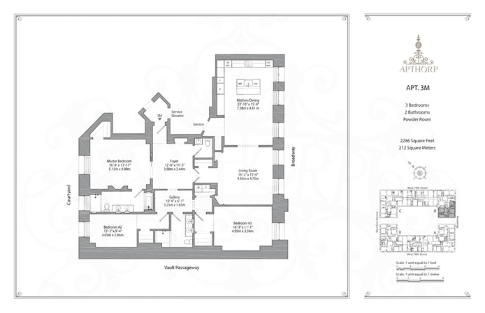 390 West End Avenue 3M, Upper West Side, NYC, $4,500,000, Web #: 17976400