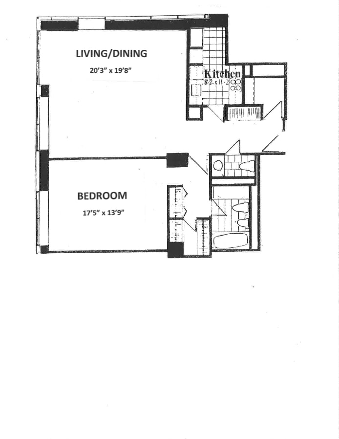 15 West 53rd Street 27E, Midtown West, NYC, $5,000, Web #: 17982402