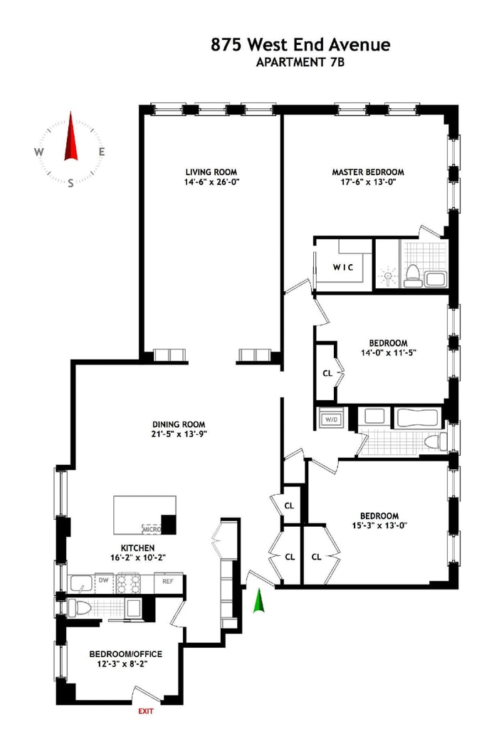 875 West End Avenue, Upper West Side, NYC, $3,100,000, Web #: 17983702