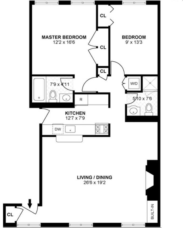 54 Willow Street 2B, Brooklyn Heights, New York, $1,350,000, Web #: 17987788