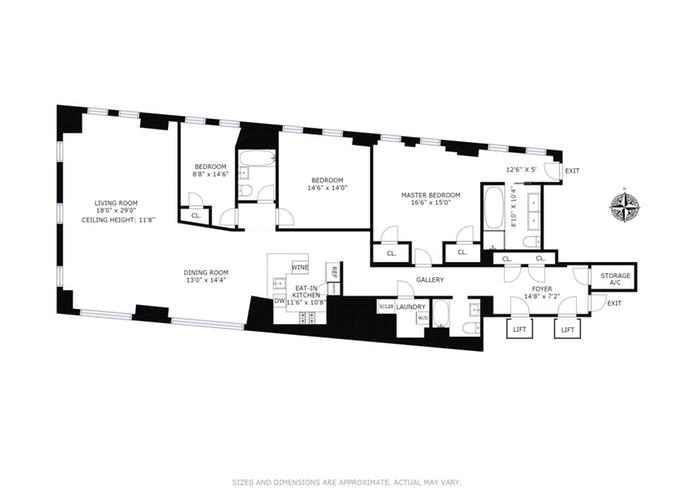 33 Rector Street 11Fl, Lower Manhattan, NYC, $2,950,000, Web #: 17991091