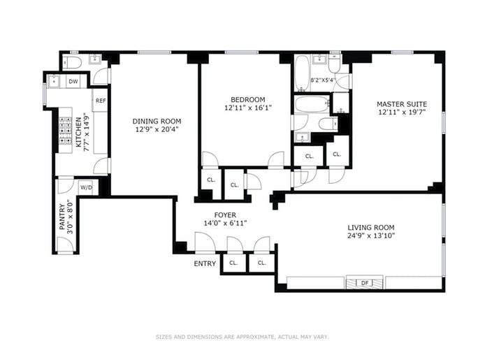400 West End Avenue 8D, Upper West Side, NYC, $2,750,000, Web #: 17992373