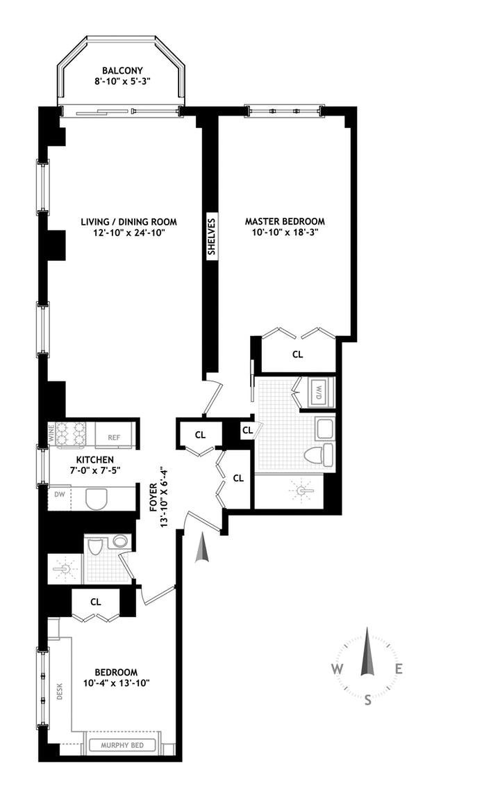 108 Fifth Avenue 14A, Greenwich Village/Chelsea, NYC, $2,260,000, Web #: 17999428