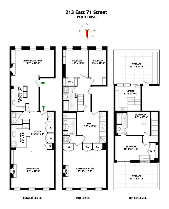 213 East 71st Street Ph, Upper East Side, NYC, $3,845,000, Web #: 18003272