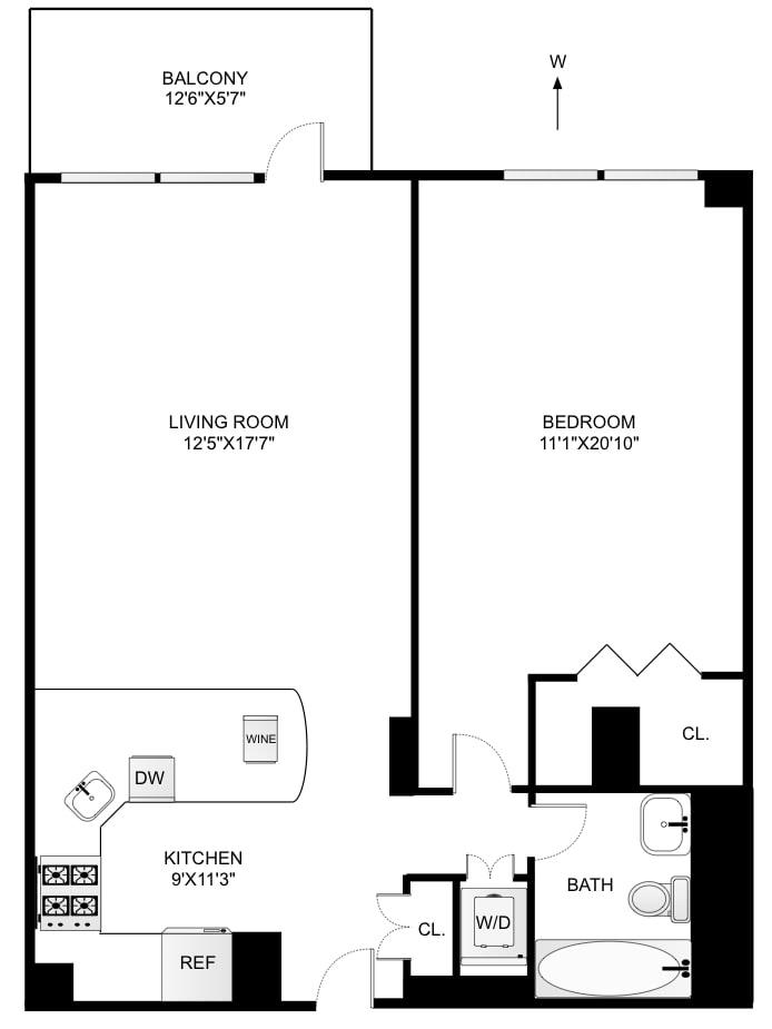 201 West 70th Street 5B, Upper West Side, NYC, $925,000, Web #: 18004727