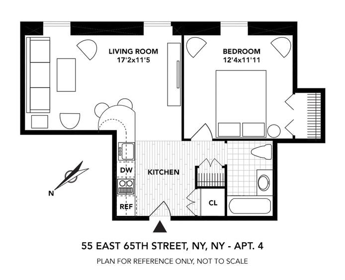 55 East 65th Street 4, Upper East Side, NYC, $575,000, Web #: 18010561