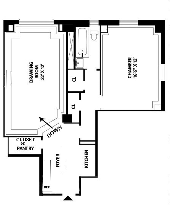 25 Central Park West, Upper West Side, NYC, $3,400, Web #: 18018466