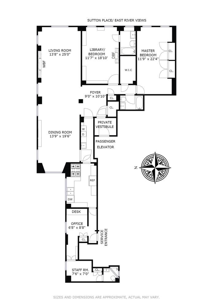 30 Sutton Place 8C Sr8d, Midtown East, NYC, $2,495,000, Web #: 18032187