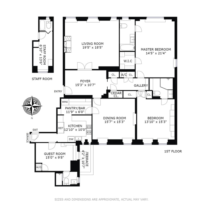 30 Sutton Place 14A Sr4, Midtown East, NYC, $3,295,000, Web #: 18057458