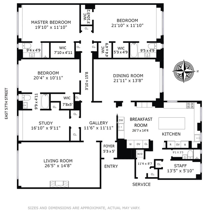 333 East 57th Street 8A, Midtown East, NYC, $3,900,000, Web #: 18068539