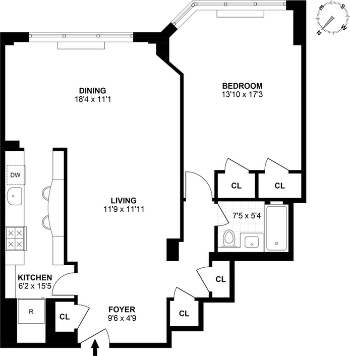 20 Sutton Place South 17B, Midtown East, NYC, $850,000, Web #: 18082349